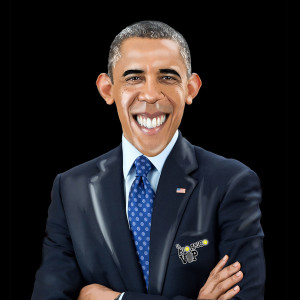 coprisedile caricatura obama