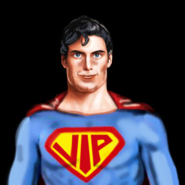 coprisedile caricatura superman